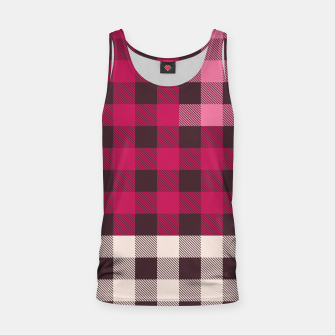 PATCHWORK BUFFALO CHECK IN PINK Tank Top thumbnail image