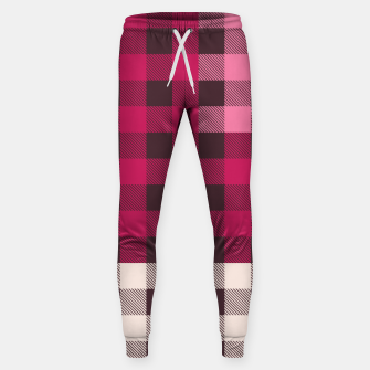 Thumbnail image of PATCHWORK BUFFALO CHECK IN PINK Sweatpants, Live Heroes