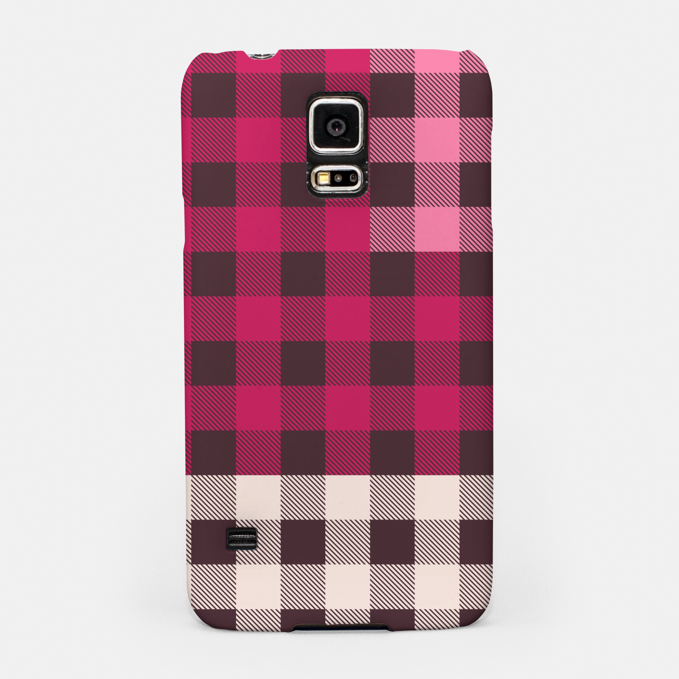 Image of PATCHWORK BUFFALO CHECK IN PINK Samsung Case - Live Heroes
