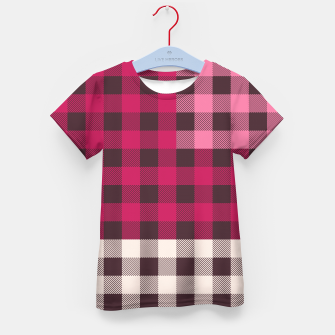 Thumbnail image of PATCHWORK BUFFALO CHECK IN PINK Kid's t-shirt, Live Heroes