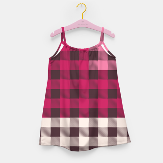 Thumbnail image of PATCHWORK BUFFALO CHECK IN PINK Girl's dress, Live Heroes