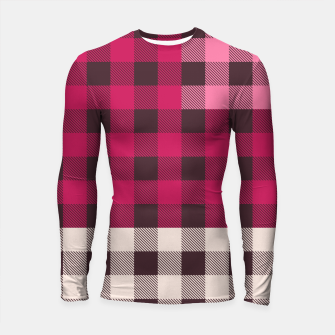 Thumbnail image of PATCHWORK BUFFALO CHECK IN PINK Longsleeve rashguard , Live Heroes