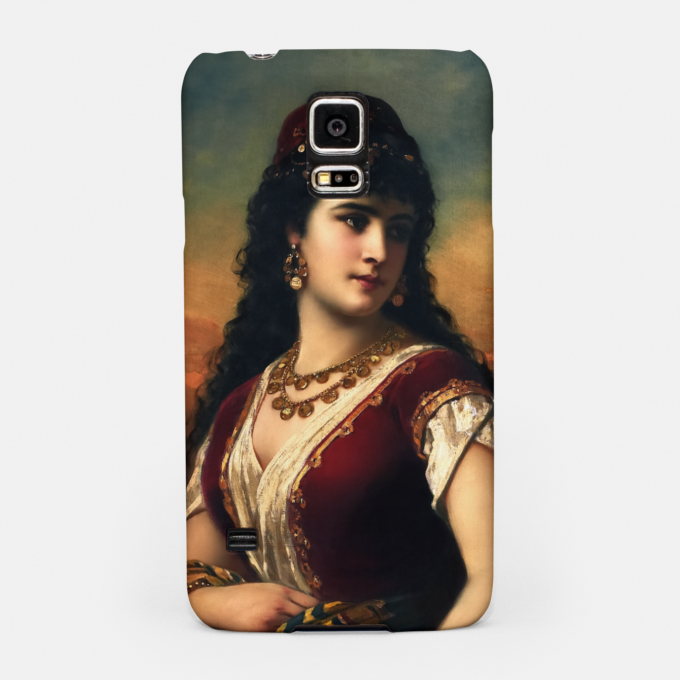 Zdjęcie An Oriental Beauty With Fruit by Anton Ebert Old Masters Classical Art Reproduction Samsung Case - Live Heroes