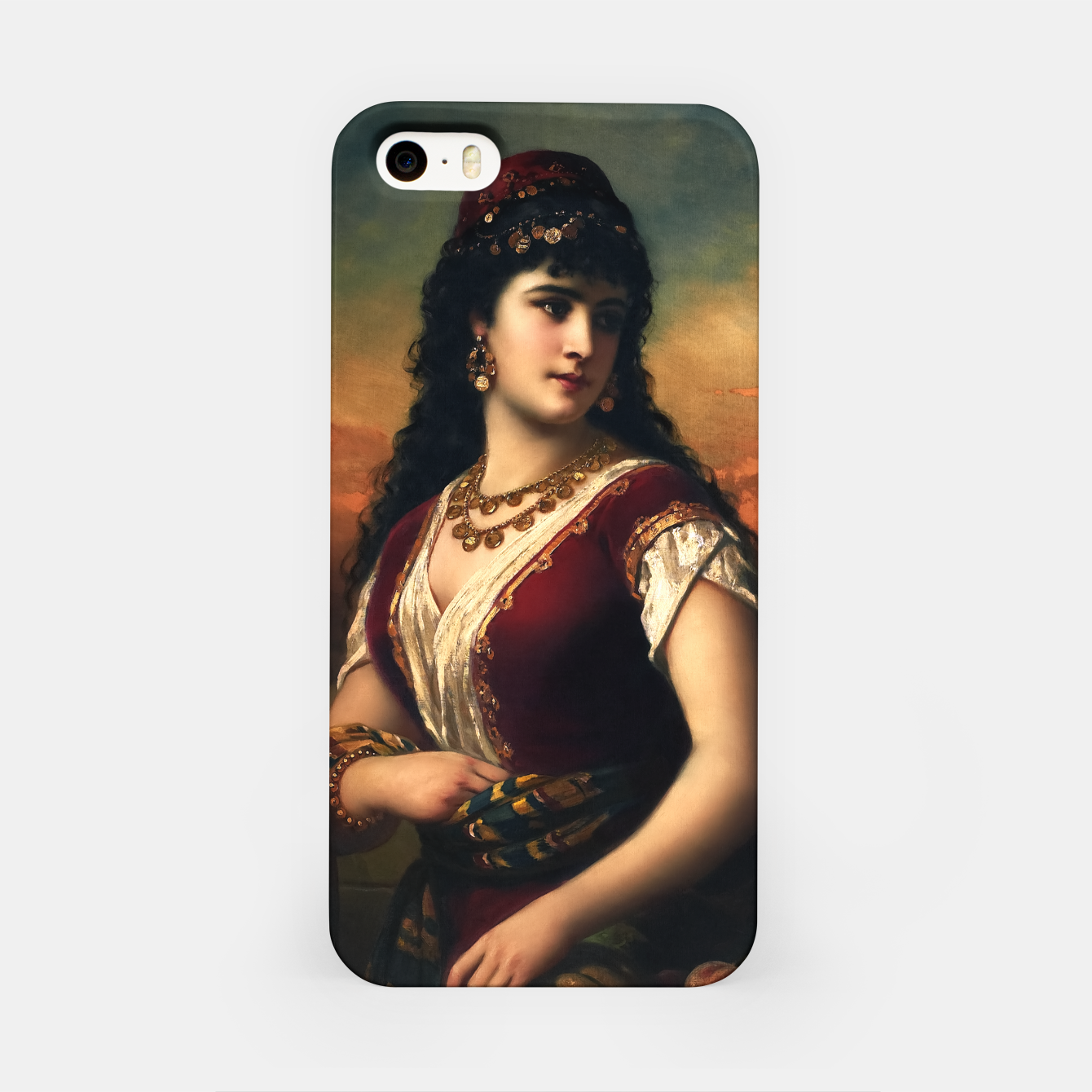 Zdjęcie An Oriental Beauty With Fruit by Anton Ebert Old Masters Classical Art Reproduction iPhone Case - Live Heroes