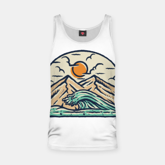 Thumbnail image of Mountain and Wave Tank Top, Live Heroes