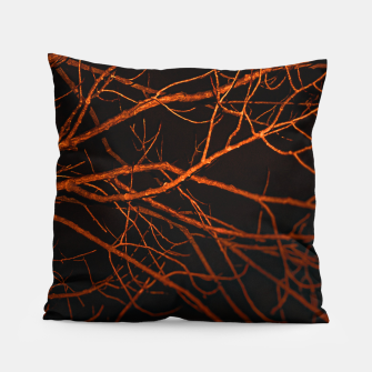 Thumbnail image of Dark Night Scene Forest Landscape Pillow, Live Heroes