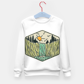 Thumbnail image of Beauty Waterfall Kid's sweater, Live Heroes