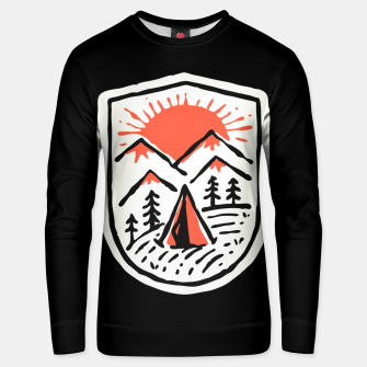 Thumbnail image of Sunset Camp Hand Drawn Unisex sweater, Live Heroes