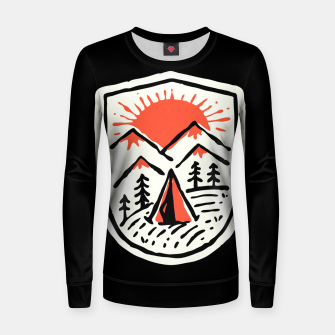 Thumbnail image of Sunset Camp Hand Drawn Women sweater, Live Heroes