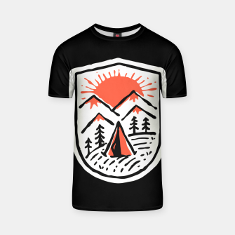 Thumbnail image of Sunset Camp Hand Drawn T-shirt, Live Heroes
