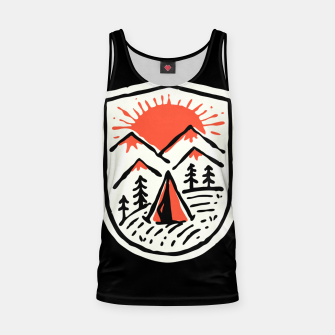 Thumbnail image of Sunset Camp Hand Drawn Tank Top, Live Heroes