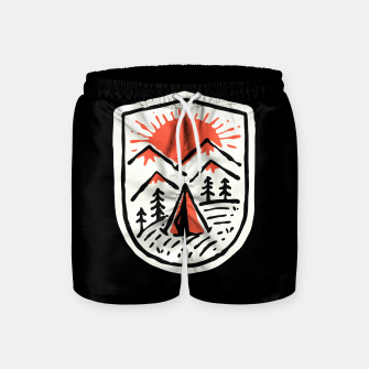 Thumbnail image of Sunset Camp Hand Drawn Swim Shorts, Live Heroes