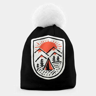 Thumbnail image of Sunset Camp Hand Drawn Beanie, Live Heroes