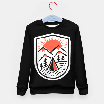 Thumbnail image of Sunset Camp Hand Drawn Kid's sweater, Live Heroes