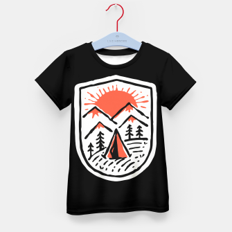 Thumbnail image of Sunset Camp Hand Drawn Kid's t-shirt, Live Heroes