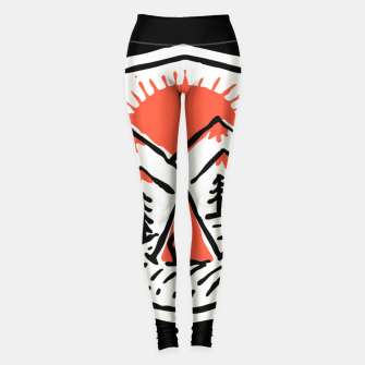 Thumbnail image of Sunset Camp Hand Drawn Leggings, Live Heroes