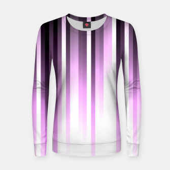 Thumbnail image of Ultra violet madness, dark shades lines print  Women sweater, Live Heroes
