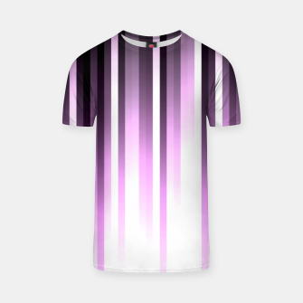 Thumbnail image of Ultra violet madness, dark shades lines print  T-shirt, Live Heroes