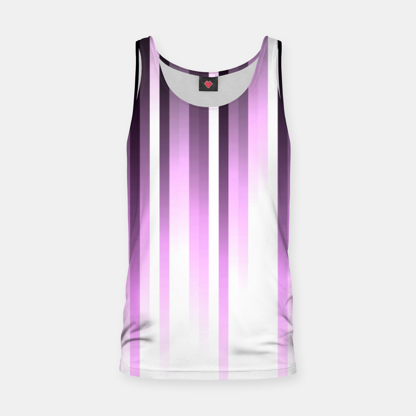 Image of Ultra violet madness, dark shades lines print  Tank Top - Live Heroes
