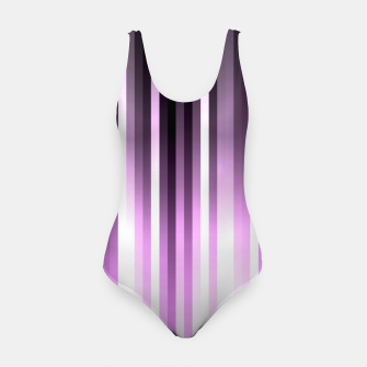 Thumbnail image of Ultra violet madness, dark shades lines print  Swimsuit, Live Heroes