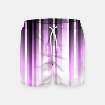 Thumbnail image of Ultra violet madness, dark shades lines print  Swim Shorts, Live Heroes