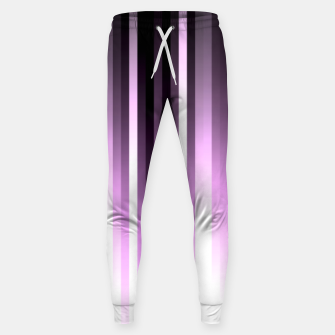 Thumbnail image of Ultra violet madness, dark shades lines print  Sweatpants, Live Heroes