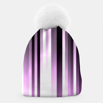 Thumbnail image of Ultra violet madness, dark shades lines print  Beanie, Live Heroes