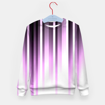 Thumbnail image of Ultra violet madness, dark shades lines print  Kid's sweater, Live Heroes