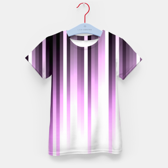 Thumbnail image of Ultra violet madness, dark shades lines print  Kid's t-shirt, Live Heroes