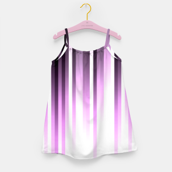 Thumbnail image of Ultra violet madness, dark shades lines print  Girl's dress, Live Heroes