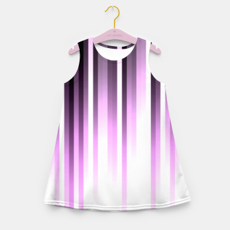 Thumbnail image of Ultra violet madness, dark shades lines print  Girl's summer dress, Live Heroes