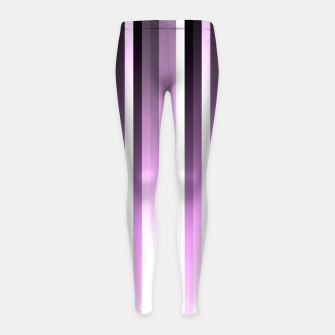 Thumbnail image of Ultra violet madness, dark shades lines print  Girl's leggings, Live Heroes