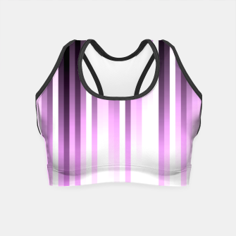 Thumbnail image of Ultra violet madness, dark shades lines print  Crop Top, Live Heroes