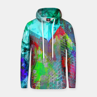 Miniatur modern building at Las Vegas, USA with colorful painting abstract background Hoodie, Live Heroes
