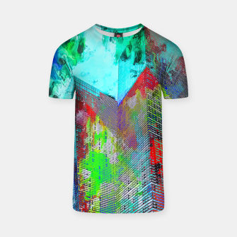 Miniatur modern building at Las Vegas, USA with colorful painting abstract background T-shirt, Live Heroes