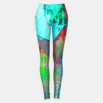 Thumbnail image of modern building at Las Vegas, USA with colorful painting abstract background Leggings, Live Heroes