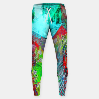 Thumbnail image of modern building at Las Vegas, USA with colorful painting abstract background Sweatpants, Live Heroes