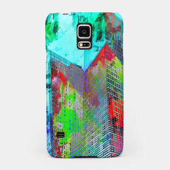 Thumbnail image of modern building at Las Vegas, USA with colorful painting abstract background Samsung Case, Live Heroes