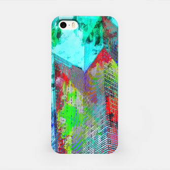 Thumbnail image of modern building at Las Vegas, USA with colorful painting abstract background iPhone Case, Live Heroes
