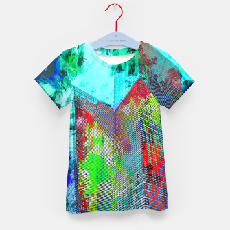Miniatur modern building at Las Vegas, USA with colorful painting abstract background Kid's t-shirt, Live Heroes