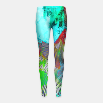 Miniatur modern building at Las Vegas, USA with colorful painting abstract background Girl's leggings, Live Heroes