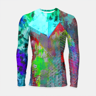 Thumbnail image of modern building at Las Vegas, USA with colorful painting abstract background Longsleeve rashguard , Live Heroes