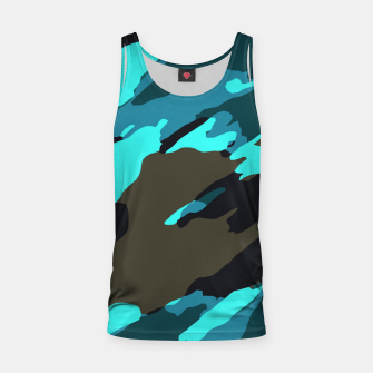 Thumbnail image of camouflage splash painting abstract in green brown blue Tank Top, Live Heroes