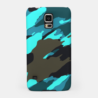 Thumbnail image of camouflage splash painting abstract in green brown blue Samsung Case, Live Heroes