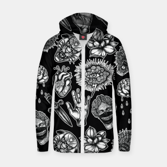 Thumbnail image of Mix Zip up hoodie, Live Heroes