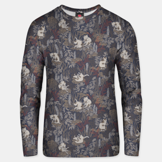 Thumbnail image of Bathing kitties in ochre tropical lush Unisex sweater, Live Heroes