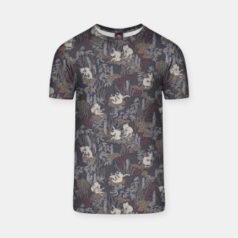 Thumbnail image of Bathing kitties in ochre tropical lush T-shirt, Live Heroes