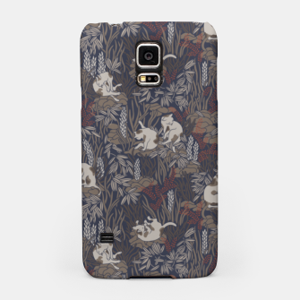 Thumbnail image of Bathing kitties in ochre tropical lush Samsung Case, Live Heroes
