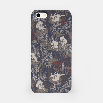 Thumbnail image of Bathing kitties in ochre tropical lush iPhone Case, Live Heroes