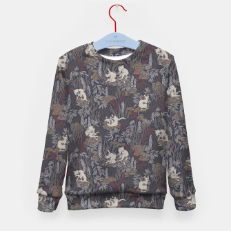 Thumbnail image of Bathing kitties in ochre tropical lush Kid's sweater, Live Heroes